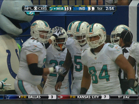 Video - Miami Dolphins running back Lamar Miller around the end for the TD