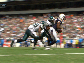 Video - Philadelphia Eagles defense force fumble on 1-yard line