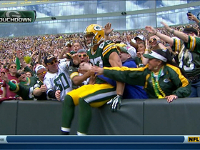 Video - Green Bay Packers quarterback Aaron Rodgers' fifth TD pass