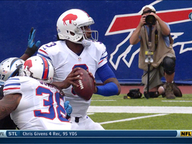 Video - Buffalo Bills quarterback EJ Manuel sacked, fumbles