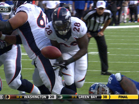Video - Denver Broncos rookie running back Montee Ball fumbles in red zone