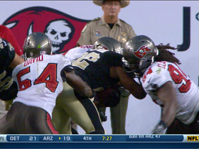 Video - Tampa Bay Buccaneers stuff New Orleans Saints running back Mark Ingram on goal line stand