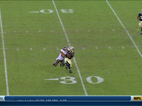 Video - Josh Freeman intercepted by New Orleans Saints safety Malcolm Jenkins