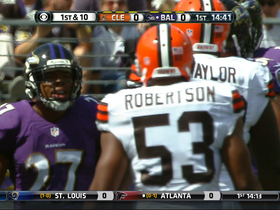 Video - Baltimore Ravens running back Ray Rice and Cleveland Browns nose tackle Phil Taylor have heated exchange