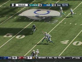 Video - Miami Dolphins wide receiver Brian Hartline 24-yard reception
