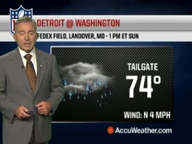 Video - Weather update: Lions @ Redskins.
