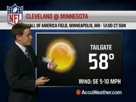 Video - Weather update: Browns @ Vikings.