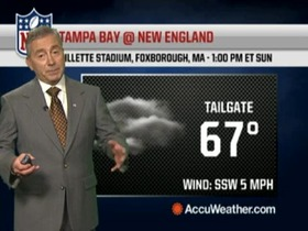 Video - Weather update: Buccaneers @ Patriots.