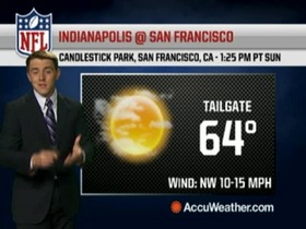 Video - Weather update: Colts @ 49ers.