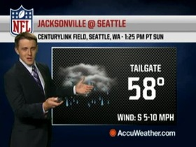 Video - Weather update: Jaguars @ Seahawks.