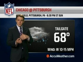 Video - Weather update: Bears @ Steelers.