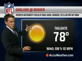 Video - Weather update: Raiders @ Broncos.