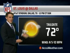Video - Weather update: Rams @ Cowboys.
