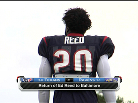 Video - Houston Texans safety Ed Reed returns to Baltimore