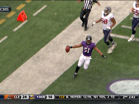 Video - Baltimore Ravens linebacker Daryl Smith picks off Houston Texans quarterback Matt Schaub for TD