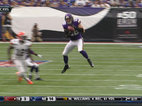 Video - Cleveland Browns quarterback Brian Hoyer intercepted by Minnesota Vikings safety Harrison Smith