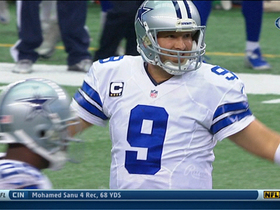 Video - Dallas Cowboys quarterback Tony Romo to wide receiver Dwayne Harris for the touchdown