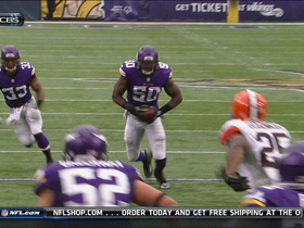 Video - Minnesota Vikings intercept Cleveland Browns quarterback Brian Hoyer for third time