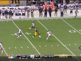 QB Roethlisberger to TE Johnson, 32-yd, pass