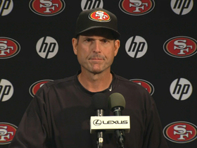 Video - San Francisco 49ers coach Jim Harbaugh: Everybody must get better