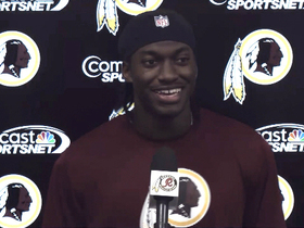Video - Washington Redksins QB Robert Griffin III is open to Washington Nationals outfielder Bryce Harper's advice on sliding