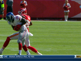 Video - New York Giants cornerback Prince Amukamara picks off San Francisco 49ers quarterback Alex Smith
