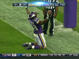 Video - Minnesota Vikings running back Adrian Peterson scores his second touchdown