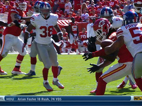 Video - Kansas City Chiefs quarterback Alex Smith intercepted by New York Giants safety Antrel Rolle