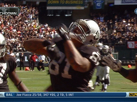 Video - Oakland Raiders rookie tight end Mychal Rivera catches 18-yard TD