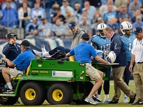 Video - Jake Locker carted off with injury