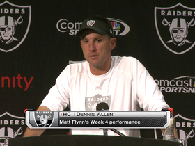 Video - Dennis Allen: 'Matt didn't play well'