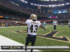 Video - New Orleans Saints running back Darren Sproles 5-yard touchdown