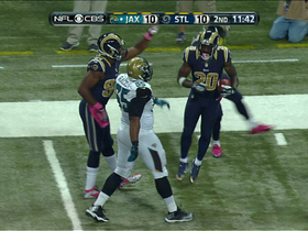 Video - St. Louis Rams Safety Darian Stewart strips Jacksonville Jaguars tight end Clay Harbor and recovers