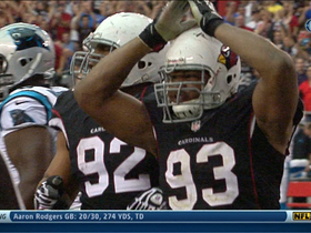 Video - Arizona Cardinals defensive lineman Calais Campbell forces a safety