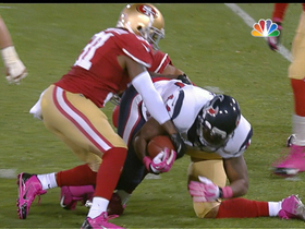 Video - San Francisco 49ers safety Donte Whitner strips the ball from Houston Texans running back Be