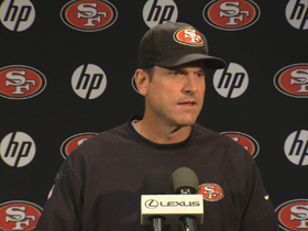 Video - San Francisco 49ers coach Jim Harbaugh: 'Olive jar' of turnovers