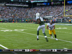 Video - New York Jets wide receiver Stephen Hill holds on