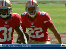 Video - San Francisco 49ers cornerback Carlos Rodgers picks off Arizona Cardinals QB Carson Palmer
