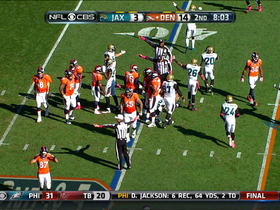 Video - Denver Broncos quarterback Peyton Manning fumbles snap