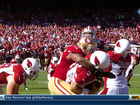 Video - San Francisco 49ers linebacker Corey Lemonier sacks Carson Palmer for safety