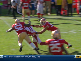 Video - San Francisco 49ers linebacker Patrick Willis forces Arizona Cardinals wide receiver Larry Fitzgerald fumble