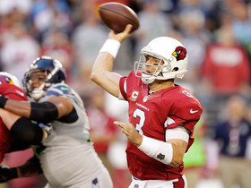 Video - Arizona Cardinals quarterback Carson Palmers throws interception