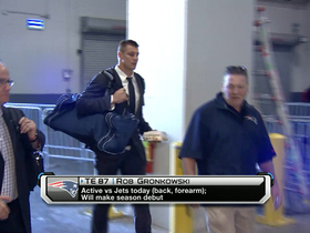 Video - New England Patriots tight end Rob Gronkowski returns