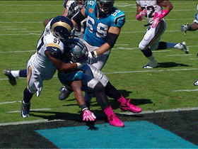 Video - St. Louis Rams tackle Carolina Panthers running back Mike Tolbert for safety