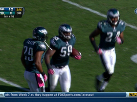 Video - Philadelphia Eagles linebacker DeMeco Ryans intercepts Dallas Cowboys QB Tony Romo