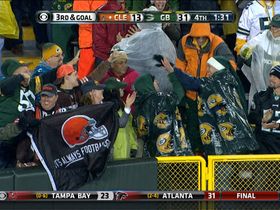 Video - Packers fan catches Brandon Weeden pass