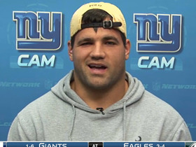 Video - New York Giants running back Peyton Hillis on his return to the field.