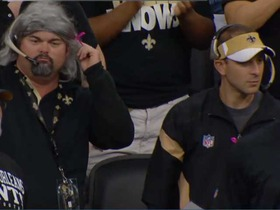 Video - New Orleans Saints fans in costume