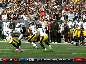 Video - Pittsburgh Steelers safety Troy Polamalu picks off Oakland Raiders QB Terrelle Pryor