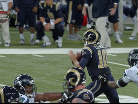 Video - St. Louis Rams quarterback Kellen Clemens' sack and fumble